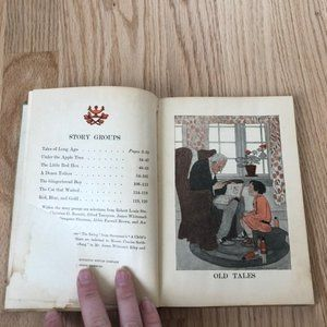 Vintage Accents - The Riverside Readers Antique Book